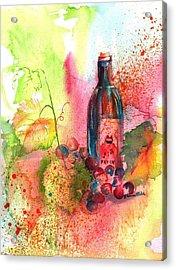 Fat Cat Wine Acrylic Print by Sharon Mick
