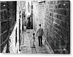 Father And Daughter In Jaffa Acrylic Print by John Rizzuto