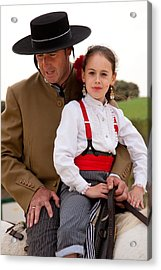 Father And Daughter Acrylic Print by Neil Buchan-Grant