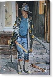Fdny  Harlem Truckie- Ladder 28 Acrylic Print by Paul Walsh