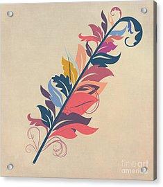 Feather Acrylic Print by John Edwards