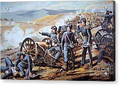 Federal Field Artillery In Action During The American Civil War  Acrylic Print by American School