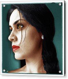 Federica Classic Sassano Italy Acrylic Print by Tony Rubino