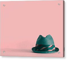 Fedora  Acrylic Print by Colleen VT