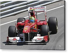 Felipe Massa Acrylic Print by Art Ferrier