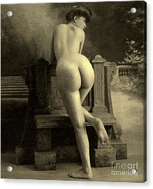 Female Nude, Circa 1900 Acrylic Print by French School
