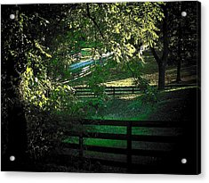 Fences On The Farm Acrylic Print by Joyce Kimble Smith