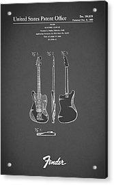 Fender Electric Guitar 1959 Acrylic Print by Mark Rogan