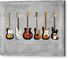 Fender Guitar Collection Acrylic Print by Mark Rogan