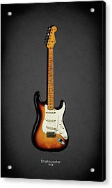 Fender Stratocaster 54 Acrylic Print by Mark Rogan