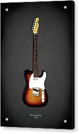 Fender Telecaster 64 Acrylic Print by Mark Rogan