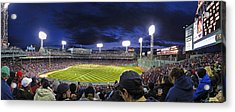 Fenway Night Acrylic Print by Rick Berk