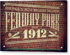 Fenway Park 1912 - Boston Red Sox Acrylic Print by Joann Vitali