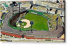 Fenway Park Baseball Stadium In Boston Ma In 1940 Acrylic Print by Dwight Goss