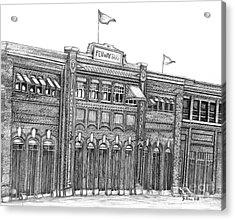Fenway Park Acrylic Print by Juliana Dube