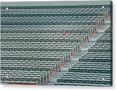 Fenway Park Red Chair Number 21 Acrylic Print by Susan Candelario