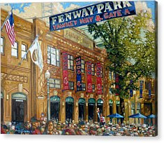 Fenway Summer Acrylic Print by Gregg Hinlicky