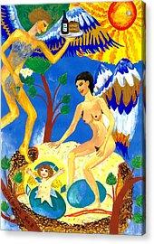 Feral Angels Acrylic Print by Sushila Burgess