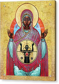 Ferguson Mother Of God. Acrylic Print by Mark Dukes