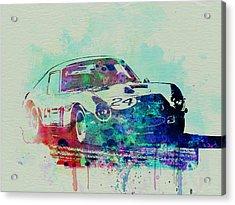 Ferrari 250 Gtb Racing Acrylic Print by Naxart Studio