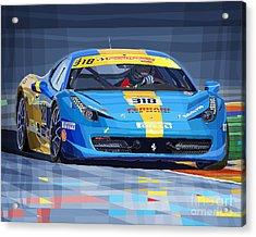 Ferrari 458 Challenge Team Ukraine 2012 Variant Acrylic Print by Yuriy Shevchuk