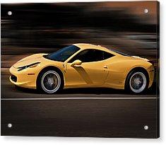 Ferrari 458 Italia Acrylic Print by Douglas Pittman