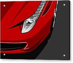 Ferrari 458 Italia Acrylic Print by Michael Tompsett