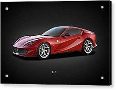 Ferrari F12 Acrylic Print by Mark Rogan