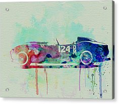 Ferrari Testa Rossa Watercolor 2 Acrylic Print by Naxart Studio