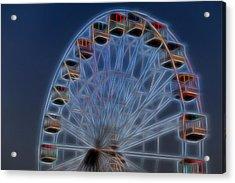 Ferris Wheel Glow Acrylic Print by Terry DeLuco