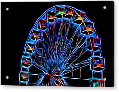 Ferris Wheel Neon Acrylic Print by Terry DeLuco