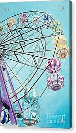 Ferris Wheel View Acrylic Print by Glenda Zuckerman