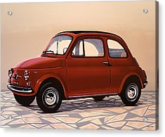 Fiat 500 1957 Painting Acrylic Print by Paul Meijering