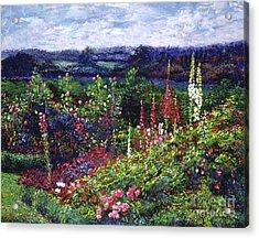 Fields Of Floral Splendor Acrylic Print by David Lloyd Glover