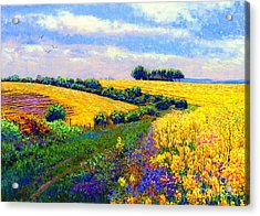 Fields Of Gold Acrylic Print by Jane Small