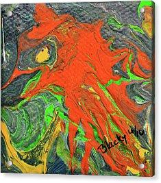 Fiery Beast Acrylic Print by Donna Blackhall