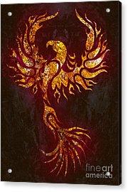 Fiery Phoenix Acrylic Print by Robert Ball