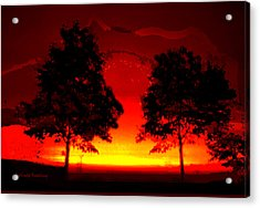 Fiery Sundown Acrylic Print by Gerlinde Keating - Galleria GK Keating Associates Inc
