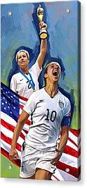 Fifa World Cup U.s Women Soccer Carli Lloyd Abby Wambach Artwork Acrylic Print by Sheraz A