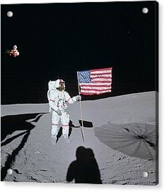 Fifi Goes To The Moon Acrylic Print by Michael Ledray
