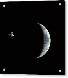 Fifi In Space Acrylic Print by Michael Ledray