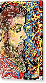 Fifteen Minute Beard Acrylic Print by Robert Yaeger