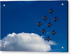 Fighter Jet Acrylic Print by Martin Newman