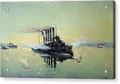 Fighting On July In The Yellow Sea Acrylic Print by Konstantin Veshchilov