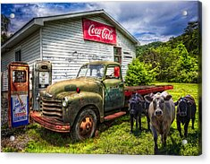Fill 'er Up? Acrylic Print by Debra and Dave Vanderlaan