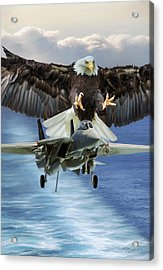 Final Approach Of Freedom Acrylic Print by Peter Chilelli