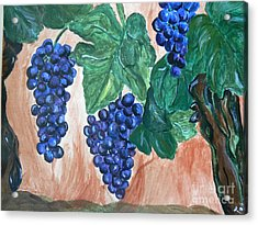 Finally Time For Wine Acrylic Print by Tobi Cooper