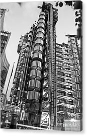 Finance The Lloyds Building In The City Acrylic Print by Chris Smith