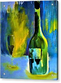 Fine Wine Glow Acrylic Print by Lisa Kaiser