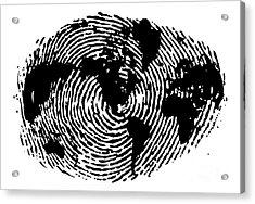 fingerprint 20X30 Acrylic Print by Sassan Filsoof